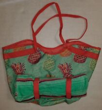 """New listing New Beach Bag/Tote with Matching Beach Towel that Attaches 21"""" x 13"""" 8"""" Deep"""