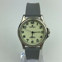 PERFECT MENS WATCH Gray Fossil Strap LUMINOUS CASE 34mm 9492088