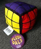 "4"" PLUSH RUBIK CUBE PUZZLE STUFFED DOLL FIGURE KIDS TOY CHILDRENS BRAIN GAME FUN"