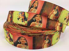 "BY The Yard Disney Pocahontas 1"" Grosgrain Ribbon Hair Bows Lisa"