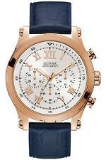 Reloj Hombre GUESS ANCHOR W1105G4 de Cuero Azul