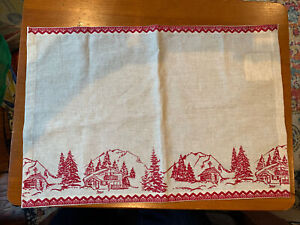 nancy's nook placemat cabin christmas NWT