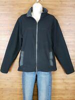 Lands End Black Full Zip Fleece Jacket Womens Size Medium M