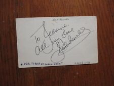"""JOHN  ROWLES (""""Cheryl Moanie Marie/If I Only Had Time"""") Signed  3 x 5 Index Card"""