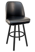 New Gladiator Basic Black Bucket Swivel Bar Stool on Black Base