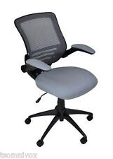 Alphason 'Stanford' GREY Mesh Back Operator's Office Chair, Seat Flip Arm Rests