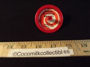 1985 Spinning Top Toy Kodak Rochester Tops in Quality KAD Facilities Family Day