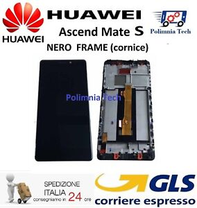 DISPLAY HUAWEI MATE S NERO con FRAME  LCD TOUCH COMPLETO CRR-L09 CRR-UL00