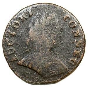 1787 1.1-A R-3 Small Head Right Connecticut Colonial Copper Coin