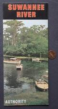 1960s Era Cross City,Florida Suwannee River Authority Brochure-State Park Now!