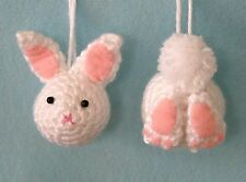 Easter Bunny Ornament Crochet Kit  Rabbit  Heads and Tails.  Makes 6.