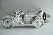 Avon Silver Car Decanter Touring T Deep Wood After Shave 8 Fl Oz Collectible