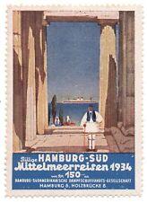 Reklamemarke / Werbemarke  HAMBURG - SÜD Mittelmeerreisen 1934  (#26080)