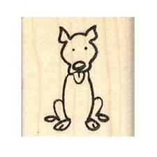 Pit Bull Stick Figure Rubber Stamp - (Rh21216) Free Shipping