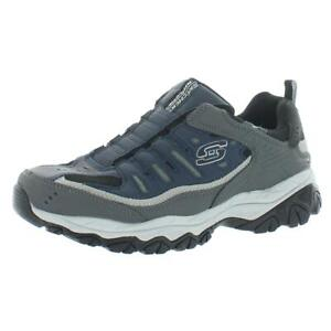 Skechers Mens After Burn Gray Hiking, Trail Shoes 11.5 Extra Wide (E+, WW) 7316