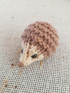 Knitted Baby Hedgehog - Brown