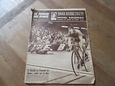 JOURNAL MIROIR DES SPORTS BUT CLUB 706 8 septembre 1958 michel rousseau riviere