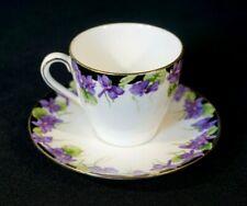 Beautiful Royal Doulton Violets Demitasse And Saucer
