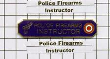 Police Department Firearms Instructor Citation Bar - Blue