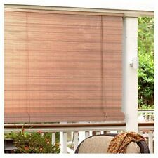 "Window Roll Up Shades Outdoor Porch Patio PVC Blinds Deck Sun Screen 72"" New"