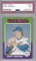 1975 Topps baseball card #176 Burt Hooton, Chicago Cubs graded PSA 7 NM