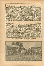 Map Carte Région de Douaumont Fort de Vaux Mort-Homme  WWI 1916 ILLUSTRATION