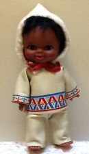 "VINTAGE RELIABLE TOY COMPANY CANADA 11"" ESKIMO DOLL ORIGINAL Leather"