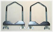2x BayWorld Mastschelle SAT-Bügelschelle U-Schelle M8x60mm Stahl Antennenmontage