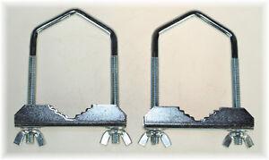 2 St. BayWorld Mast- SAT-Bügelschelle U-Schelle M8x60mm Stahl Antennenmontage