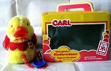 AUTOMATE CARL- RARE CANARD JAUNE A TIRER +BOÎTE-FONCTIONNE- MADE IN WEST GERMANY