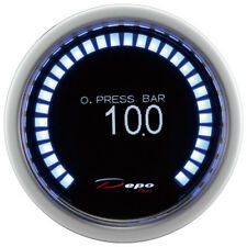 Manometro Strumento 52mm DEPO Pressione Olio 0-10 BAR DIGITALE 30 OLED DISPLAY