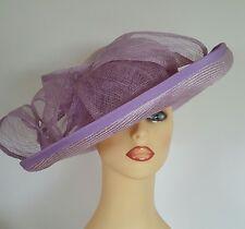 Ladies Wedding Races Mother Bride Ascot Hat Mauve Lilac by Jacques Vert