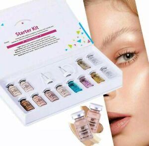 Skin Care 12 Bottle BB Glow Kit Ampoule Brightening Serum Foundation