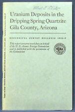 Usgs Arizona Uranium in Dripping Springs Quartzite, Gila County 1959 Bulletin