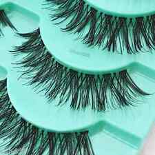 5 Or 10 Pairs Long Natural Thick Handmade Fake False Eyelashes Eye Lashes UK