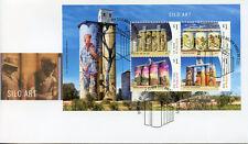 Australia 2018 FDC Silo Art Drapl & Zookeeper Amok Island 4v M/S Cover Stamps
