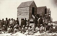 Freed Slaves 1862, Ginning Cotton on Confederate Plantation - Civil War Postcard