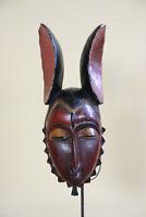BA1 Guro Baule Maske alt Afrika / Masque Gouro ancien / Old tribal mask Africa