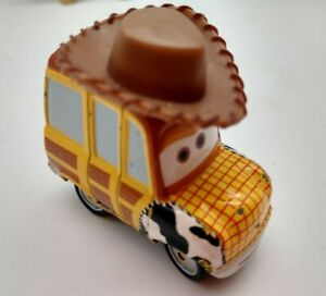 Disney Pixar Cars Toy Story Woody Die cast Car  scale 1.55  2 inches long