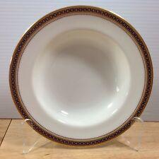 Antique Spode Copeland Majestic 1 Rimmed Soup Bowl Gold Cobalt Chain Dots 1900s