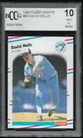 1988 Fleer Update David Wells Toronto Blue Jays #U-69 RC BCCG 10 GEM MINT Rookie
