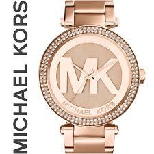 NEU+OVP: MICHAEL KORS Damenuhr MK5865 rosègoldfarben, funkelnde Glassteine...
