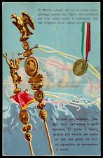 AX0093 Preghiera al Soldato - Medaglietta - Tricolore - Cartolina Benedetta