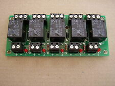 5 way relay Board fitted with 12vdc spco 10amp relays