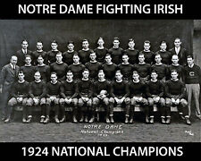 Notre Dame 1924 National Champions, 8x10 B&W Team Photo
