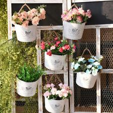 1PCS Blumentopf Blumentöpfe Eisenblech Wand Pflanztopf Hängend Blumen Topf