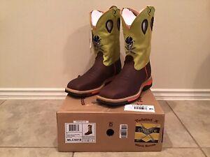 Twisted X Men's Neon yellow Cowboy Work Boot - Steel Toe  - MLCS012