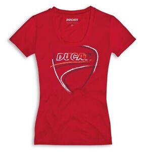 Ducati Heart Beat Ladies short Sleeve T-Shirt Lady Red New 2021