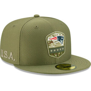 New Era NFL New England Patriots 59FIFTY Salute to Service STS Fitted Hat Cap