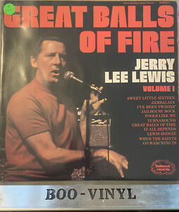 Jerry Lee Lewis Great Balls Of Fire Vinyl Lp Record Album (1974) SHM823 EX / EX